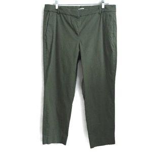 J. Crew Green Khaki Women's Pants Size 14